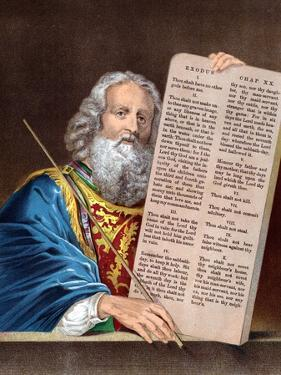 Moses with the Ten Commandments, Mid 19th Century