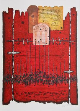 Above Jerusalem by Moshe Elazar Castel