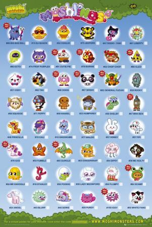 Moshi Monsters - Moshling Tick Chart