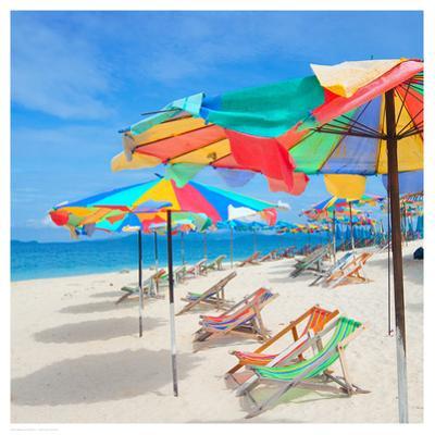 Parasols on a Tropic Isle