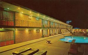 Motel Swimming Pool at Night