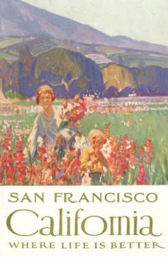 Mother and Child with Flowers, San Francisco, California