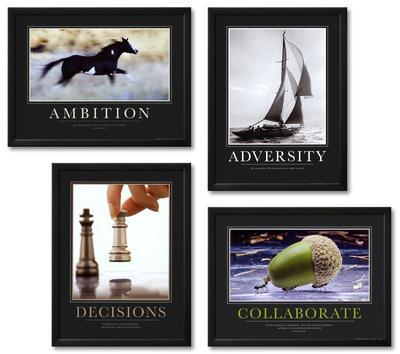 Motivational Framed Art Print Set