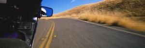 Motorcycle on a Road, California, USA