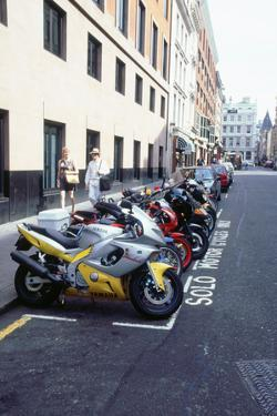 Motorcycle parking area, London 1999