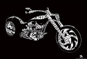 Motorcycle Text Poster