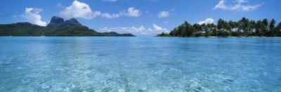 Motu and Lagoon, Bora Bora, Society Islands, French Polynesia