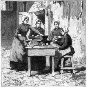 Moulding Explosive Gum Cartridges, Isleten, Near Fluelen, Switzerland, 1893