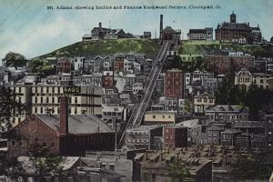 Mount Adams, Shiwing the Incline and the Famous Rockwood Pottery, Cincinnati, Ohio, Usa