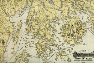 Mount Desert Island And Coast Of Maine - Panoramic Map