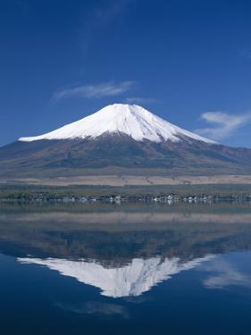 Mount Fuji and Lake Yamanaka, Honshu, Japan