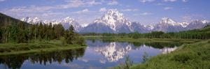Mount Moran, Snake River, Oxbow Bend, Grand Teton National Park, Wyoming USA