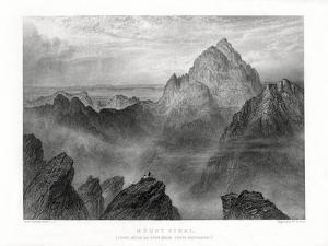 Mount Sinai: Jebel Musa as Seen from Jebel Katharina, 1887 by W Forrest