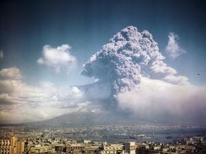 Mount Vesuvius Erupting