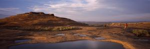 Mountain Bike Riders on a Trail, Slickrock Trail, Sand Flats Recreation Area, Moab, Utah, USA