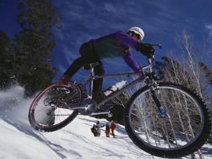 Mountain Biking on Snow