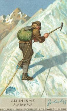 Mountain Climbing on Snow