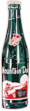 Mountain Dew Bottle Tin Sign