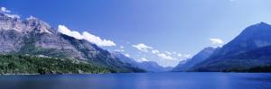 Mountain Range along a Lake, Glacier National Park, Waterton Lakes National Park, Alberta, Canada