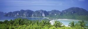 Mountain Range and Trees in the Island, Phi Phi Islands, Thailand