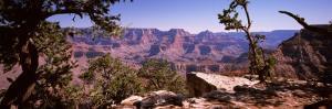Mountain Range, Mather Point, South Rim, Grand Canyon National Park, Arizona, USA