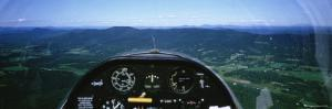 Mountain Range Through a Cockpit of an Airplane, Green Mountains, Vermont, USA