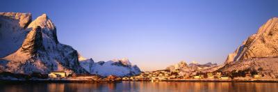 Mountains Along a Sea Side, Reine, Lofoten, Nordland County, Norway