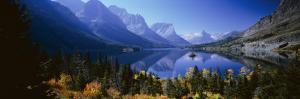 Mountains Reflected in Lake, Glacier National Park, Montana, USA