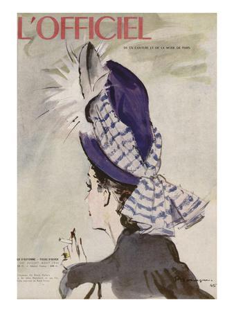 L'Officiel, July-August 1945 - Chapeau de Rosé Valois