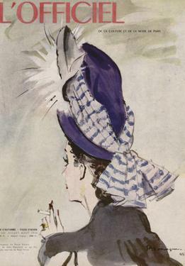 L'Officiel, July-August 1945 - Chapeau de Rosé Valois by Mourgue