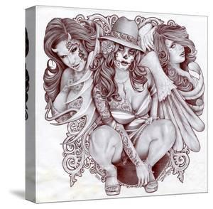 Tres Chicanas by Mouse Lopez