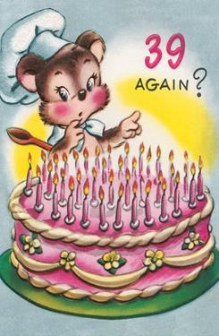 Mouse with Birthday Cake