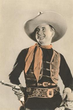 Movie Cowboy with Six-Shooter