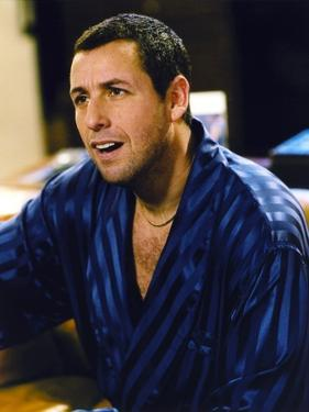 Adam Sandler in Black and Blue Striped Robe by Movie Star News