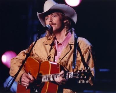 Alan Jackson Playing Guitar in Close Up Portrait
