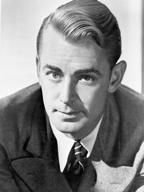 Alan Ladd Looking Close in Close Up Portrait in Classic by Movie Star News