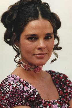 Ali MacGraw in Floral Dress With White Background by Movie Star News