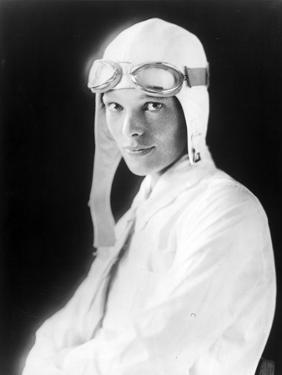 Amelia Earhart on Jet Pilot Costume Portrait by Movie Star News
