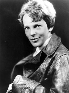 Amelia Earhart on Top Leather Jacket by Movie Star News