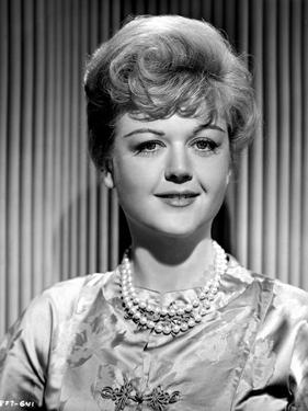 Angela Lansbury on a Silk Dress and Slightly smiling by Movie Star News