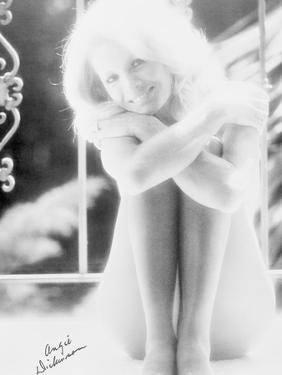 Angie Dickinson Nude Black and White Portrait by Movie Star News