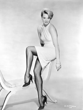 Angie Dickinson Posed in Dress Black and White by Movie Star News