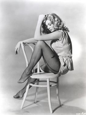 Anita Ekberg sitting on a Chair in a Classic Portrait by Movie Star News