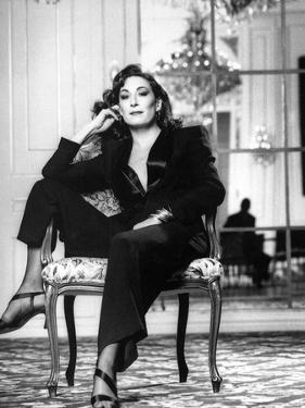 Anjelica Huston Seated in Classic by Movie Star News