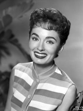 Ann Blyth on a Stripe Sleeveless Top by Movie Star News