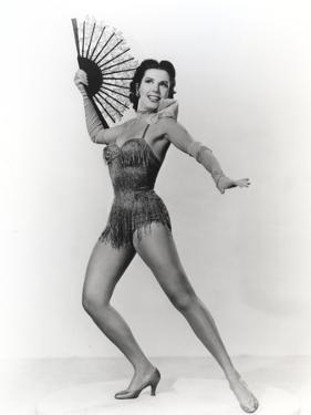 Ann Miller Holding a Fan in a Classic Portrait by Movie Star News