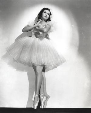 Ann Miller wearing a Ballet Dress in a Classic Portrait by Movie Star News