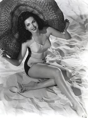 Ann Miller wearing a Big Hat in a Classic Portrait by Movie Star News