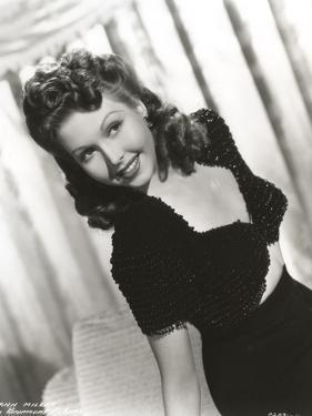 Ann Miller wearing a Black Dress in a Classic Portrait by Movie Star News