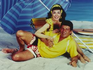 Annette Funicello Beach Theme Couple Portrait by Movie Star News